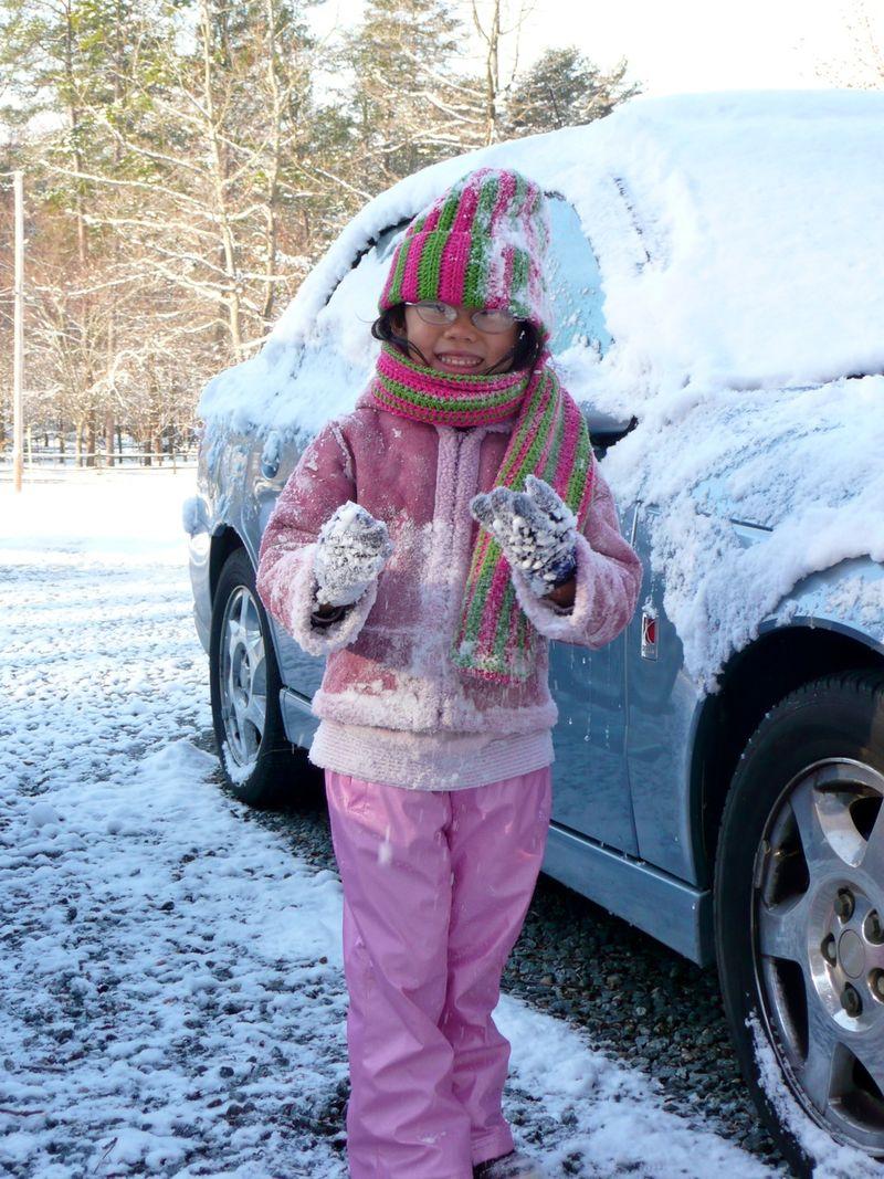 It snowed in Charlotte, too .