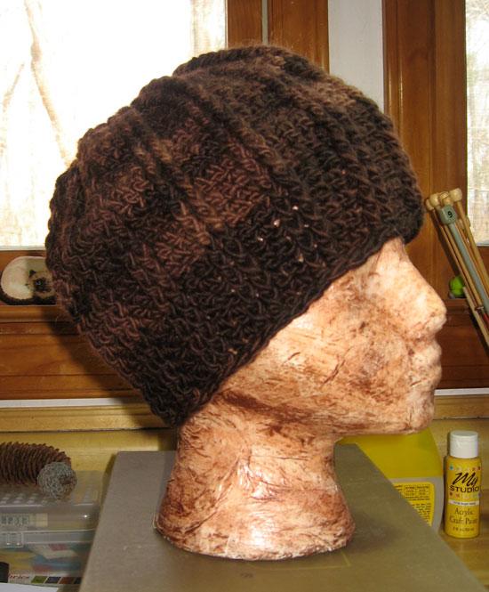 Brown-ribby-cap